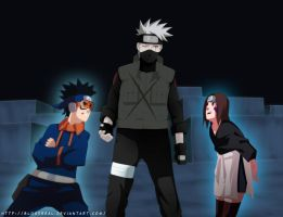 Naruto manga 630 - Rin and Obito by Advance996