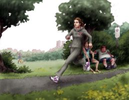 A Run in the Park - by Bjerg