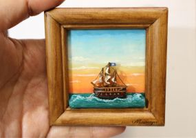 Miniature 3D polymer clay painting by minivenger