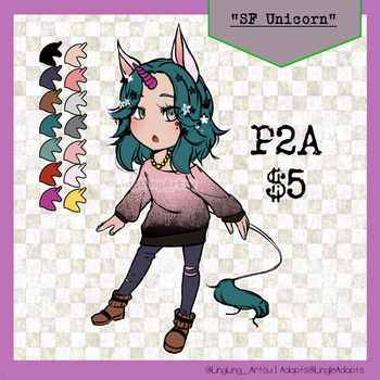 SOLD | PAY TO ADOPT | SF Unicorn by LingLingArtsu