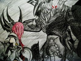 Lightning Vs Chaos Bahamut by FearsomeX23