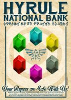 Hyrule Bank Poster by CitizenWolfie
