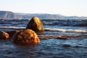 Boulders on the shore 2 by LucieG-Stock