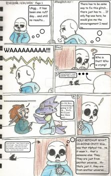 comic Adopttale AfterGlitch 001 (2) wording by kylemew24