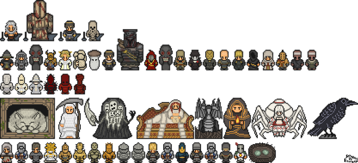 Dark Souls Characters by ServantofEntropy