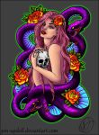 Snake Pinup Tattoo Design by Pin-updoll