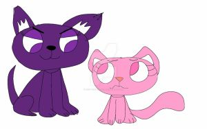 Rosie and Gloom as a Dog and a cat by Red-Teal-Blue