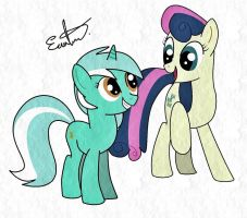 Lyra and Bon Bon by Estevangel