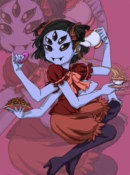 Muffet - Undertale [Colored] by Di-Gon