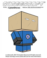 Cubeecraft - Paper Bag Spider-Man by CyberDrone