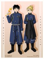 Roy Mustang and Riza Hawkeye by 9Taria6
