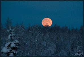 Alaska Moonset by adriftphotography
