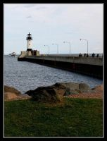 Lighthouse and Pier by midgard