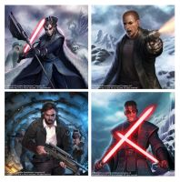 Starwars cards by LASAHIDO