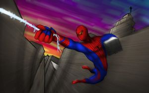 the amazing spiderman by dragonmjos