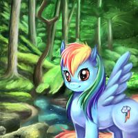 My Little Pony: Rainbow Dash by kankitsuru