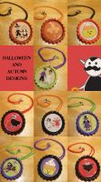 Kawaii Halloween and Autumn Necklaces by Monostache