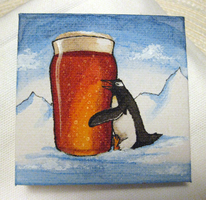 Minipainting - Beer and penguins by Bluesette