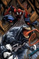 venow vs spidey by gabos