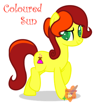 Art Trade with Coloured sun by RainbowGlow55555