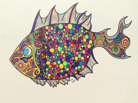 Zendoodle Fish by NINJAWERETIGER