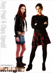 Amy Pond and Clara Oswald Poster by feel-inspired
