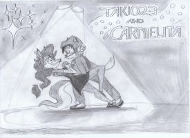 Takio23 and Carmelita by BreakoutKid