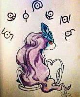 Suicune and the Unknown by Sakuragirl08