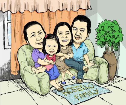 Family Caricature  Edited Copy by dinosauros-avenue68