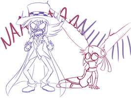 Shadow and Queen rp sketch3 by SweetSilvy