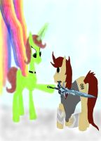 Make Me Knight Armored Brony by daylover1313