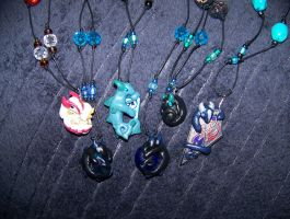 Polymer Hatchling Necklaces Batch #4 by LittleBachman