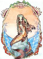Mermaid -Art nouveau by barbaramj