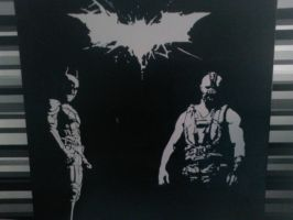 Dark knight rises Stencils. by DMSpray