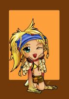 Rikku chibi by Ksiopeaslight
