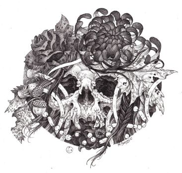 Withered Flowers Illustration. by urielstempest