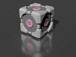 Companion Cube Rendering by cranstonide