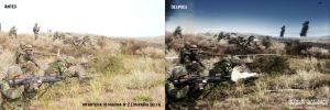 Argentine Marine Corps fighting (before and after) by Ghostestudios