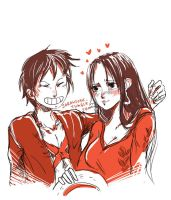 Request: Luffy x Boa by SarahSoak
