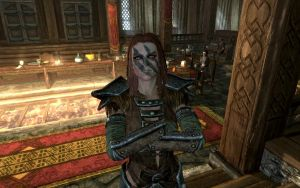 Skyrim Screenshots- Aela the Huntress 3 by vincent-is-mine