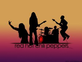 the red hot chili peppers. by majestic87