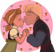 Kristoff and Anna - Kiss by yana3317