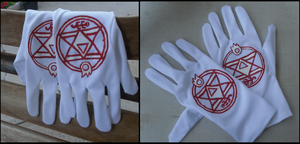 Roy Mustang Alchemy Gloves by kirk-sickle