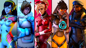 Overwatch Character Portrait(s) Wallpaper by SFM-ShatteredKnives