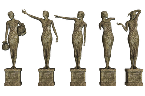 Statues 01 PNG Stock by Roys-Art