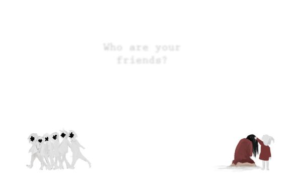 Sketch: Who are your Friends? by paintausea