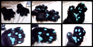 Sparkle Fox Handpaws by CuriousCreatures
