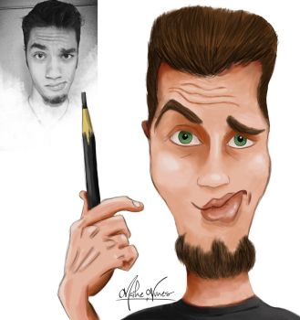 Yes this is me !  self caricature by TheMaikeNunes