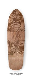 Skateboard laser engraved by Laserlab21