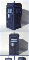 TARDIS Box in Oak by xofox